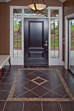 Toronto Traditional Entry Photos Floor Tile Design Ideas, Pictures,  Remodel, and Dcor Laundry