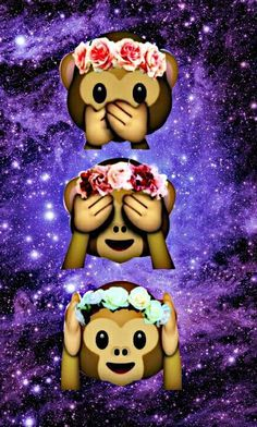 Drei Affen mit Blumen                                                                                                                                                     Mehr
