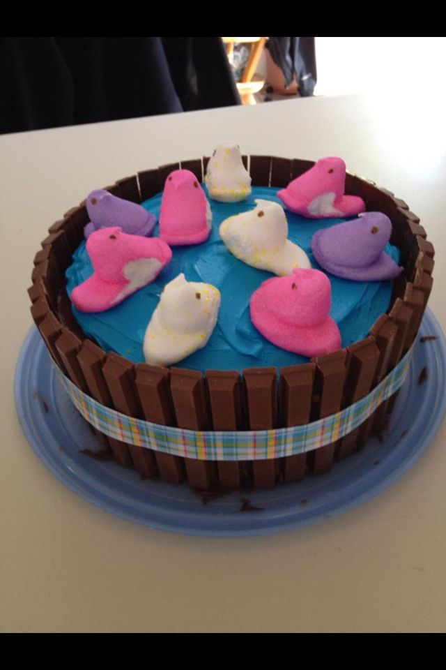Chicks in a Hot Tub!! Easter dessert