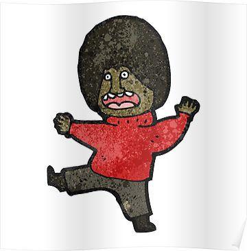 cartoon man karate kicking