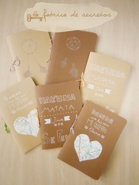 Libretas by La fábrica de secretos: Diy Gifts, By, Factory, Libretas Notebooks, Las Libretas, Diy Projects, Stationery, Design