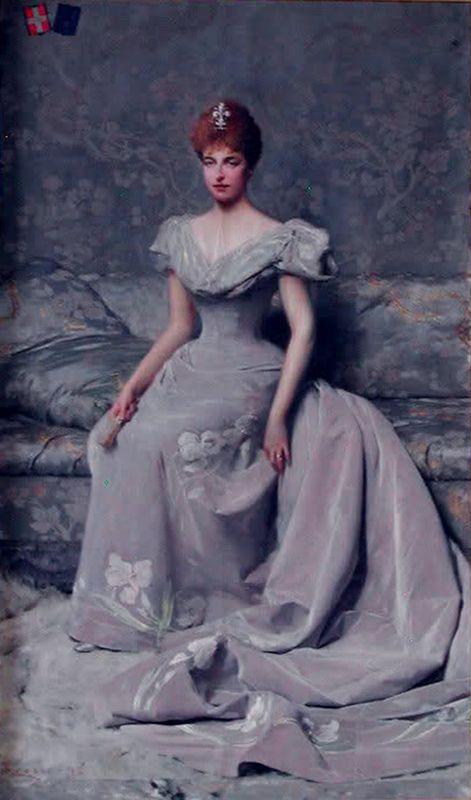 Portrait of Elena d'Orleans duchessa d'Aosta, 1898 by Giacomo Grosso (Italian 1860–1930):