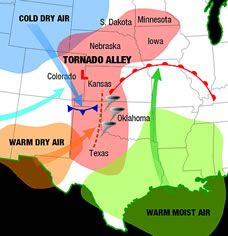 Tornado Alley Map and WEATHER/SCIENCE