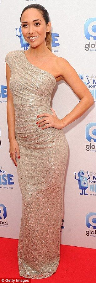 We've seen that before: Myleene had previously worn the her glittering gown at the Global Make Some Noise Gala in November