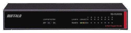 Buffalo Technology - 8-Port 10/100/1000 Gigabit Ethernet Switch - Black