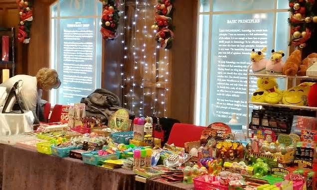 The council's Christmas fair... at the home of Scientology UK! Pamphlets scattered among festive stalls at event organised by the church…