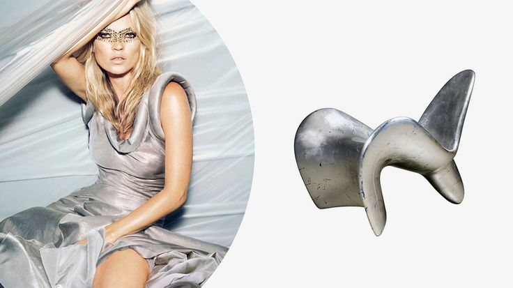 How to Decorate Your Home Like Kate Moss // Futuristic silver chair