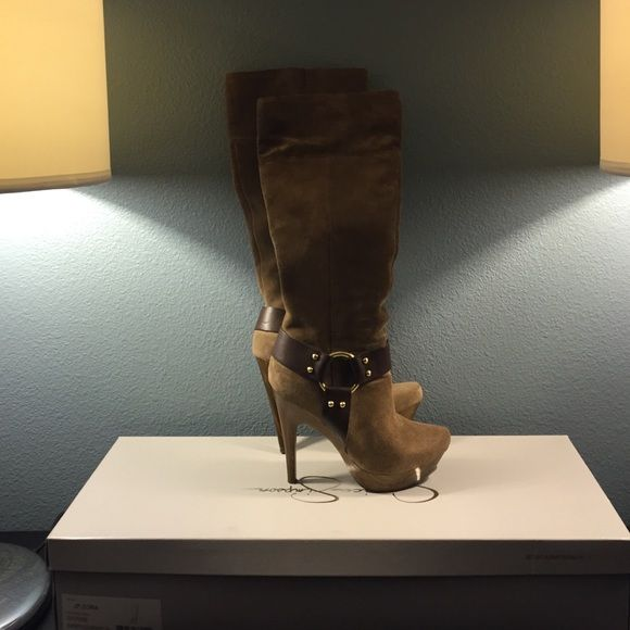 Jessica Simpson JP-Zora mid-leg boots VERY lightly-worn suede boots. Jessica Simpson's shoes are known for their comfortable fit, ability to comfortably fit a wide foot. Jessica Simpson Shoes Heeled Boots