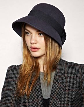 Cloche Hat & Tweed - fall style.