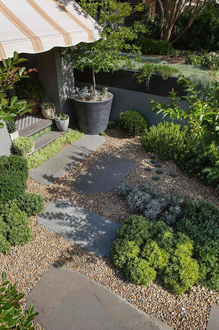 gravel garden and plantings