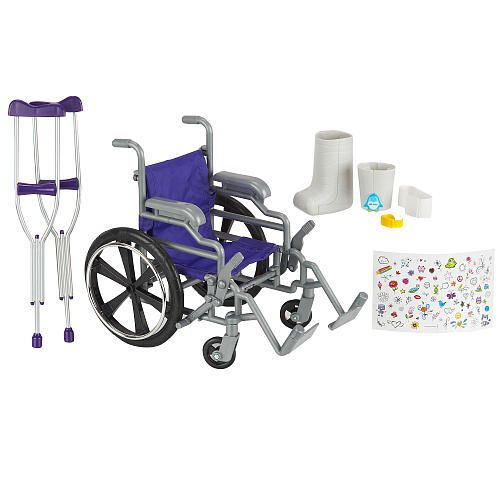 "Journey Girls Wheelchair and Crutch Set - Toys R Us - Toys ""R"" Us ($26.99)"