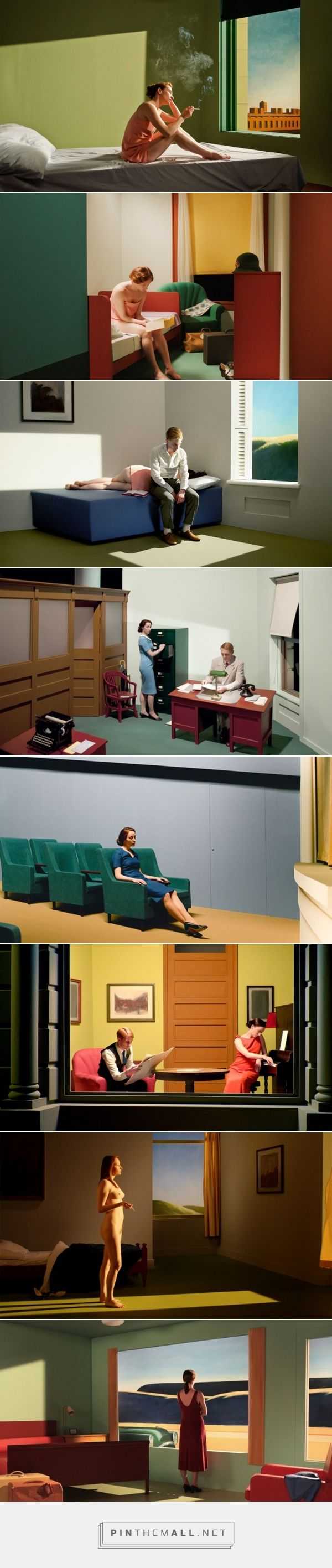 Film Adaptations of Edward Hopper's Iconic Artworks | AnOther... - a grouped images picture - Pin Them All
