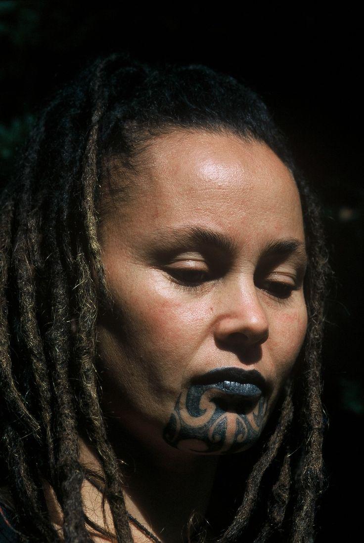 Maori Woman (my friend Piiata) with Moko, New Zealand - copyright www.belindabrownphotography.co.nz