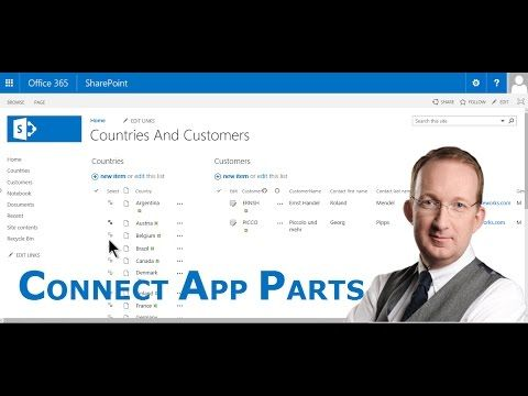 *Connect SharePoint App Parts* Export Excel tables to SharePoint and connect the app parts to filter customers per country: http://www.kalmstrom.com/Tips/SharePoint-Online-Exercises/Connect-App-Parts.htm