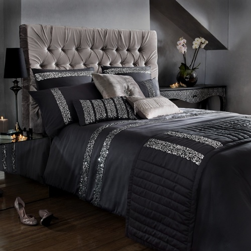 Black and silver bedding bedroom sets pinterest for Bedroom ideas black and silver