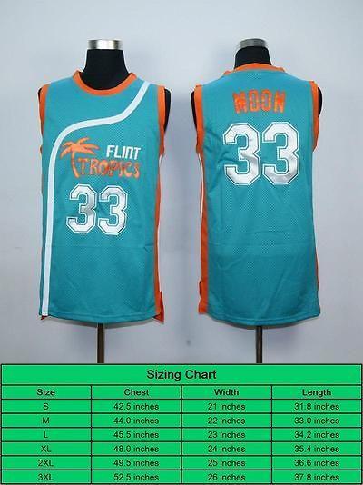Clothing 158964  Semi Pro Jackie Moon 33 Flint Tropics Basketball Jersey  Cheap Basketball Jersey -  BUY IT NOW ONLY   14.79 on eBay! 43a95ca51