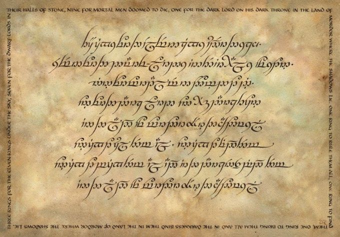 Daniel Reeve - Calligrapher for The Hobbit and Lord of the Rings movies