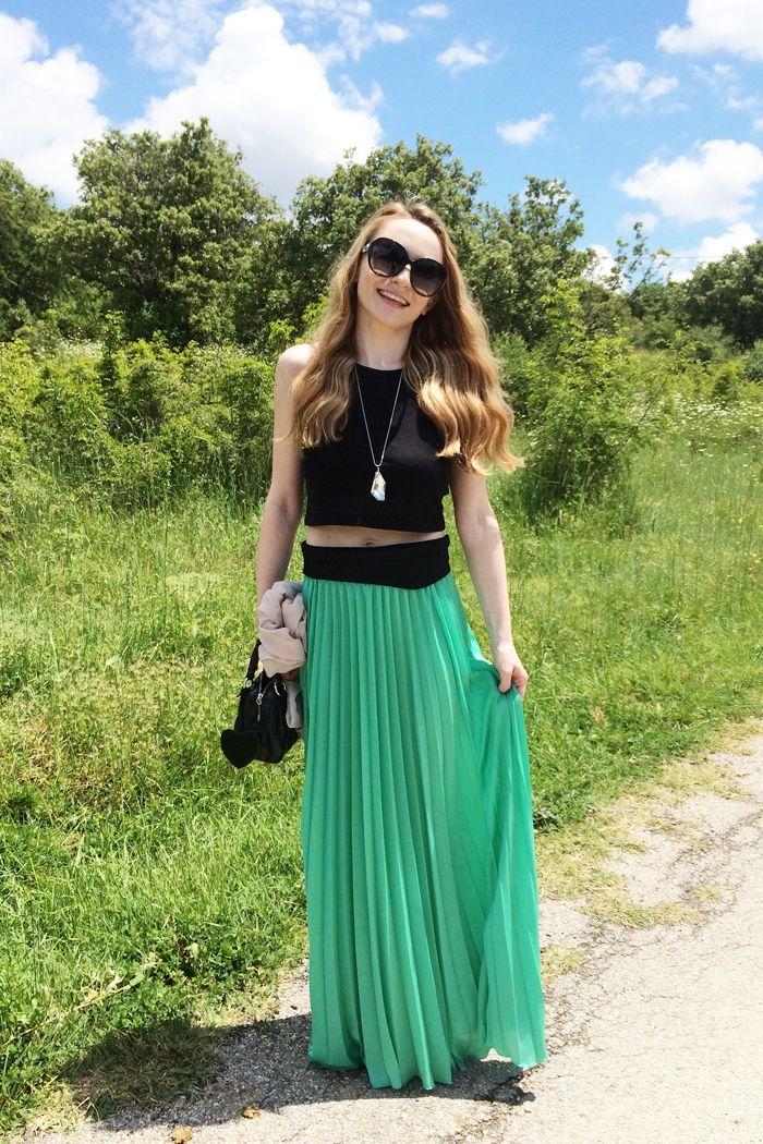 http://www.mysightofbeauty.com/plisse-maxi-skirt/ #ootd