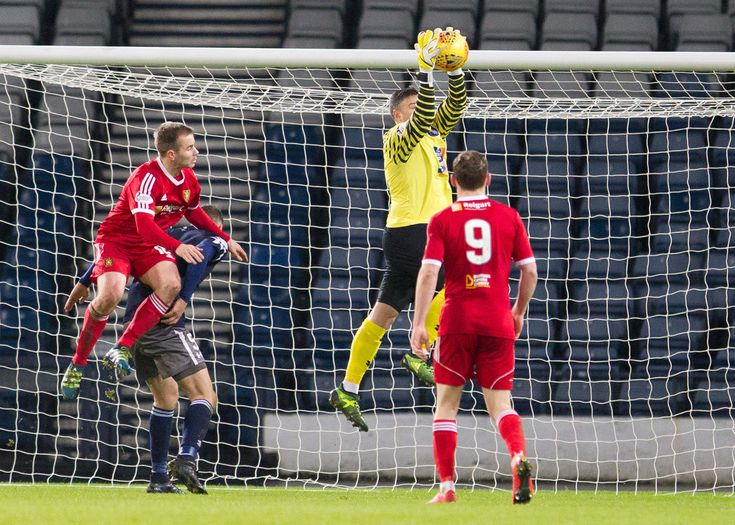 Queen's Park's Michael White in action during the SPFL League One game between Queen's Park and Albion Rovers