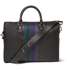 Paul Smith Shoes & Accessories Stripe-Trimmed Leather Briefcase