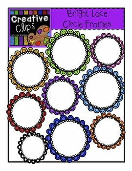 Free clipart! This set has 8 crisp, colorful images and 1 black and white version. These fancy frames have a white center and would be great for classroom labels!