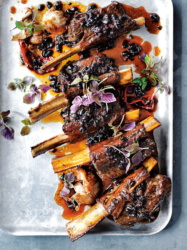 Sticky sweet ribs with salted black beans is an indulgent dinner to impress.
