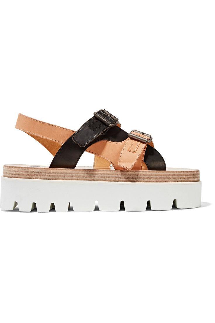 Shop on-sale MM6 Maison Margiela Leather platform sandals. Browse other discount designer Sandals & more on The Most Fashionable Fashion Outlet, THE OUTNET.COM