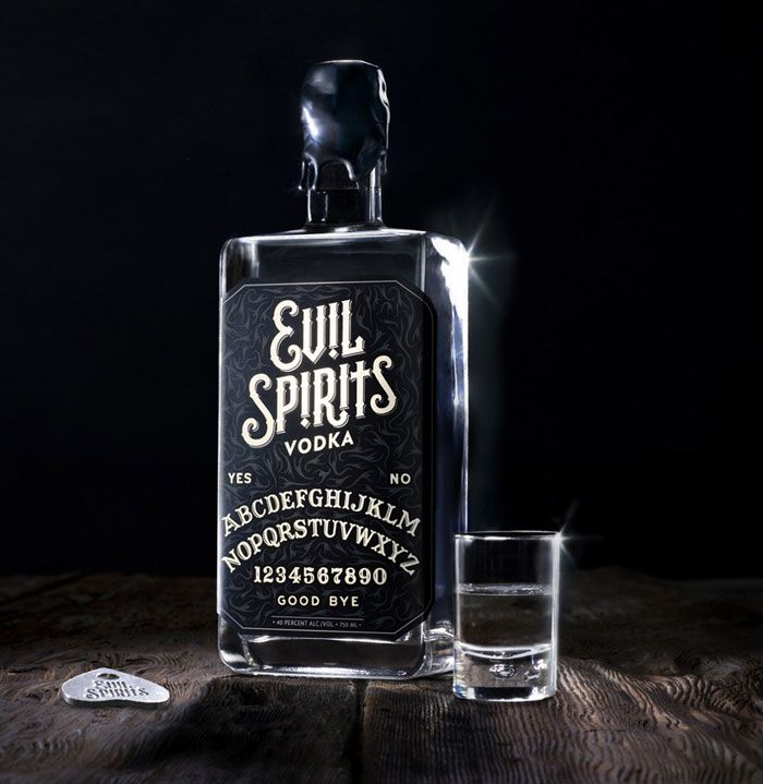 Evil Spirits Vodka | #packaging #bottledesign #vodka