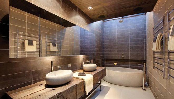 25 beste idee n over houten tegels in de badkamers op pinterest houten vloer badkamer - Rechthoekige gootsteen ...