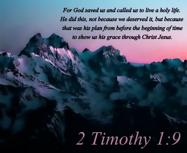 (4) 2 Timothy 1:9
