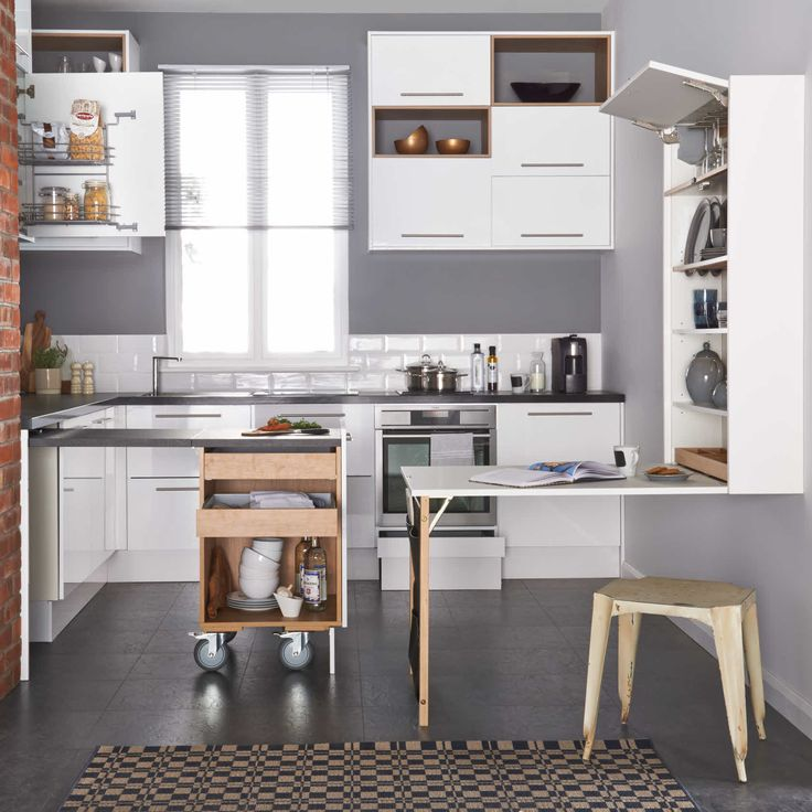 Magnet Apollo White Size 0 Pull Out Cabinet With Worktop