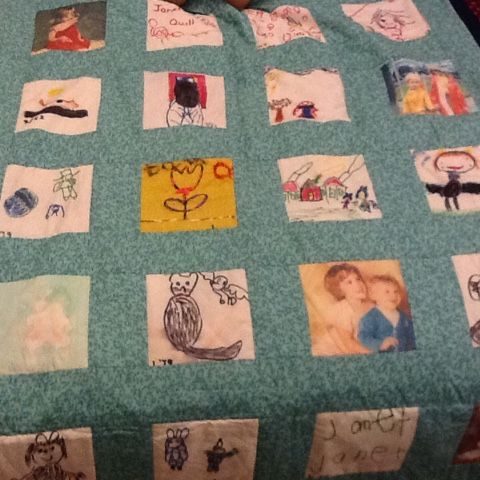 Re-Classified Purses etc.: Memory Quilt - My Youngers Years