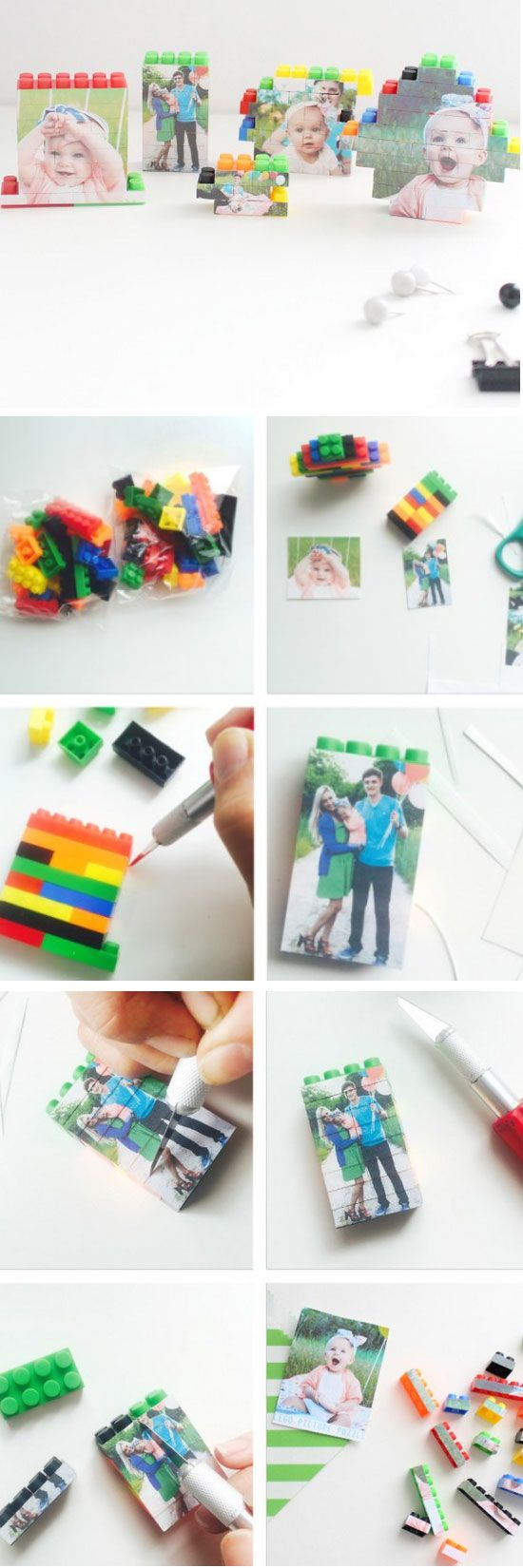 Diy Lego Picture Puzzles Easy Fathers Day Crafts For Kids To Make