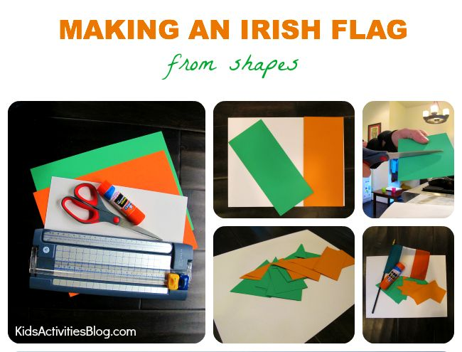 Here's a fun (and educational) St Patricks Day flag craft for kids!