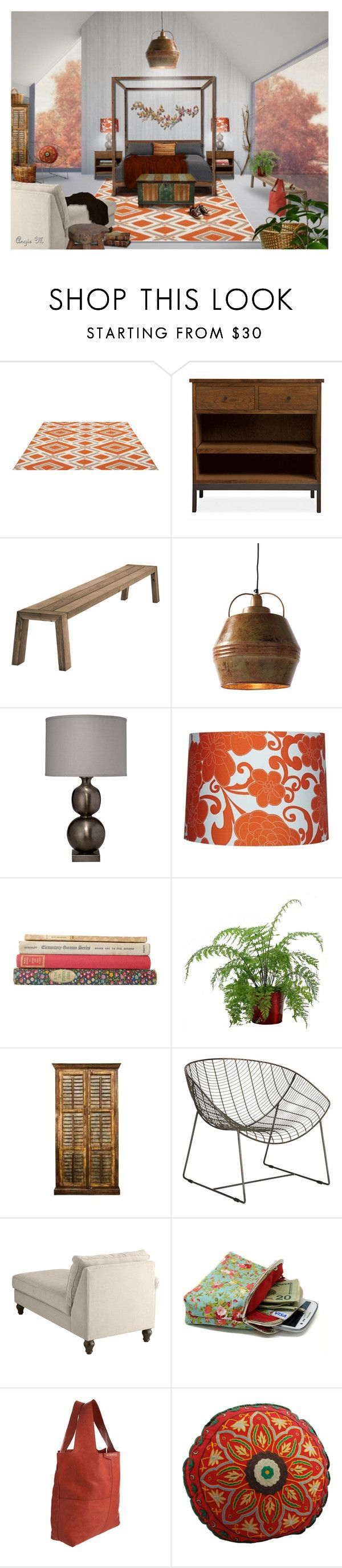 """Country Casual"" by angiem ❤ liked on Polyvore featuring interior, interiors, interior design, home, home decor, interior decorating, Jill Rosenwald, Viteo, Jamie Young and CB2"
