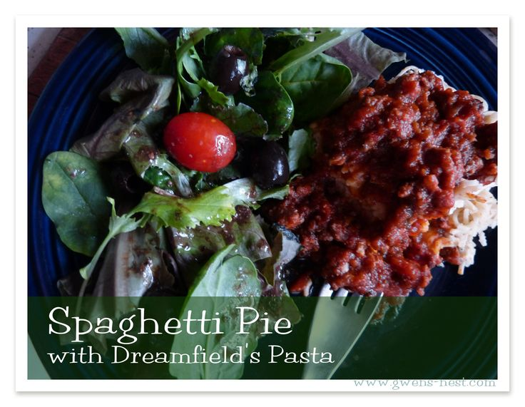 Spaghetti pie - S food, satisfying. Natural fat. Comfort food.
