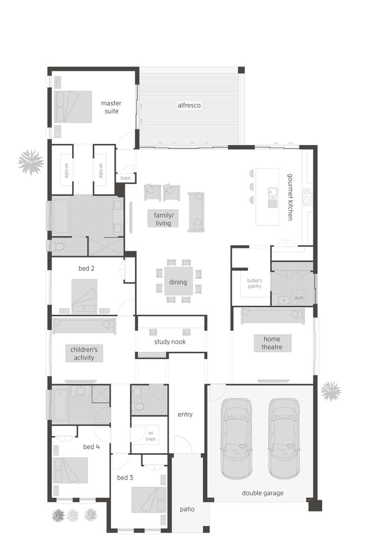 Oasis floor plan by McDonald Jones. Exclusive to Queensland. #floorplan, #housedesigns, #mcdonaldjones