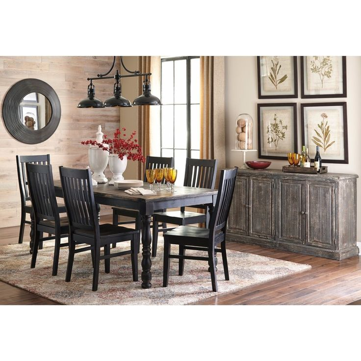 Signature Design by Ashley Clayco Bay Black Dining Set
