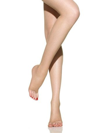 Look at this #zulilyfind! Nude 65 Degree Control Top Sheer Toeless Tights - Women by Sculptz #zulilyfinds