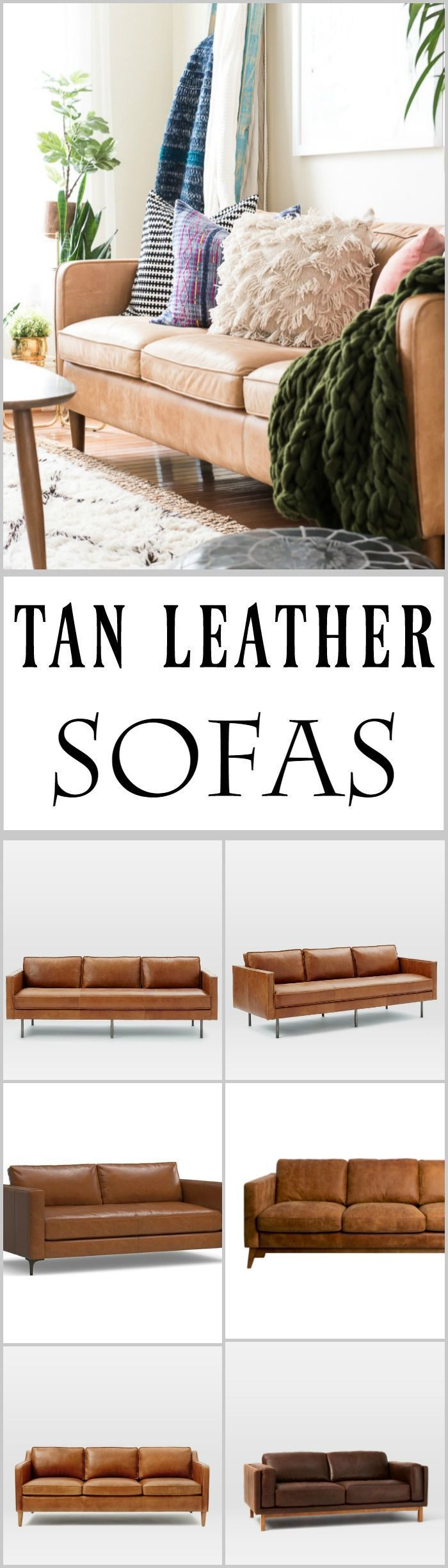 Tan leather sofas are so much in style these http://days.My Hamilton leather sofa is great, and in this post, you can check out some beautiful tan leather sofas.