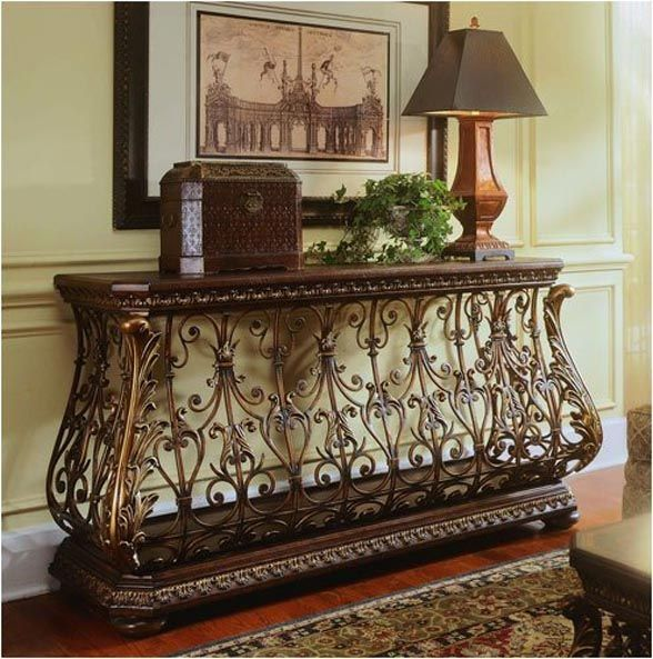 best 25+ wrought iron console table ideas on pinterest