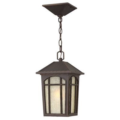 Hinkley Lighting Cedar Hill 1-Light Outdoor Hanging Lantern Finish: Oil Rubbed Bronze, Bulb Type: MED