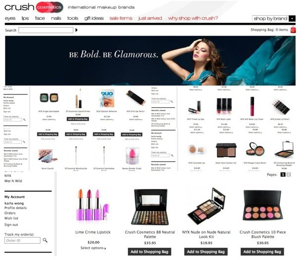 Online cosmetic shopping india