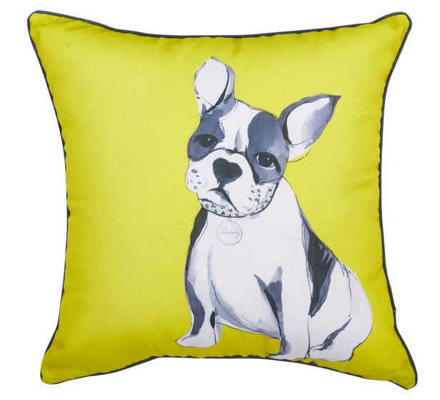 Make your guests chuckle with the Frenchy Cushion from Fantastic Furniture.