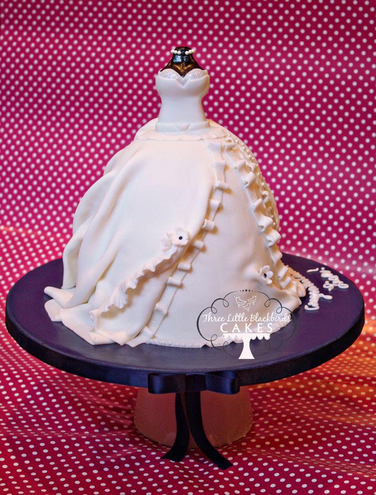 shabby chic bridal shower cakes%0A Wedding Dress Cake   pretty bridal shower cake