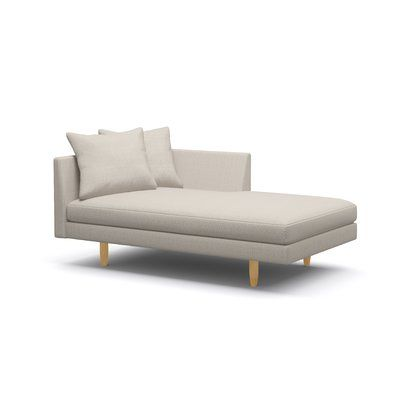 """BenchMade Modern Crowd Pleaser Chaise Lounge Size: 31"""" H x 36"""" W x 65"""" D, Body Fabric: Charcoal, Leg Finish: Honey, Sectional Orientation: Right Fa..."""