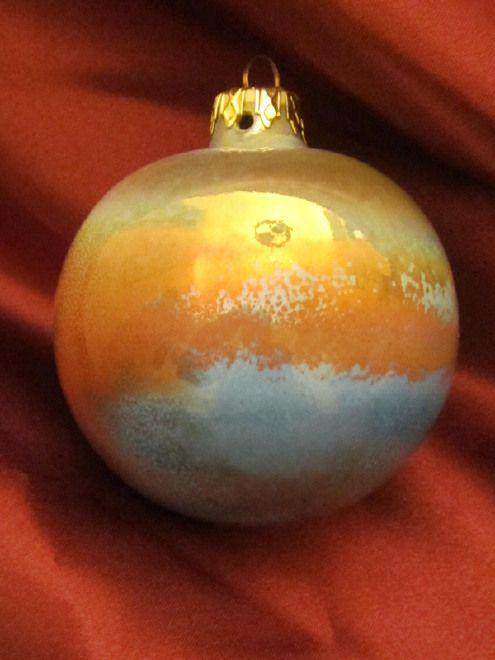 Palla di Natale lustro cm 10,per un natale ad Arte!