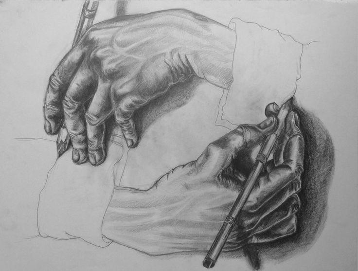 M.C. ESCHER, Drawing Hands, 1948, lithograph, 11 1/8 x 13 1/8 inches, The Magical World of M.C. Escher Exhibition # 355  http://fc07.deviantart.net/fs71/i/2013/024/5/e/m__c__escher_s_drawing_hands_by_feliciayng-d4oa82l.jpg