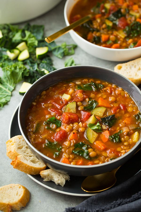 Food Photography :: Here's a new, super healthy soup to add to your dinner rotation – this Italian Vegetable Lentil Soup! It brimming with nutritious ingredients and it will fill you right up. ...