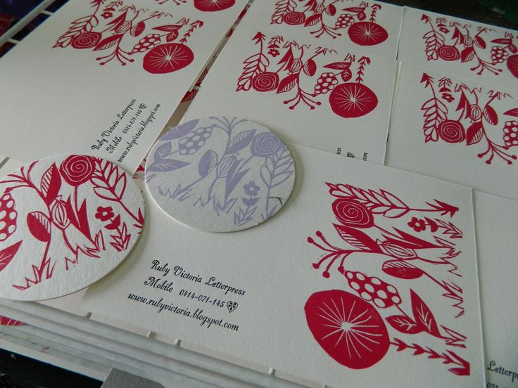 linocut greeting cards http://www.rubyvictorialetterpress.com/